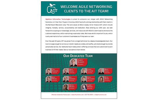 Appleton Information Technology Merger Announcement