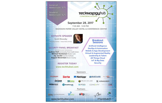 2017 Technology Hub Conference Event Poster