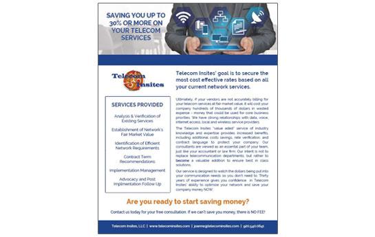 Telecom Insites Sales Sheet